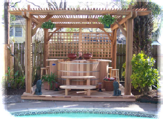how to build hot tub steps