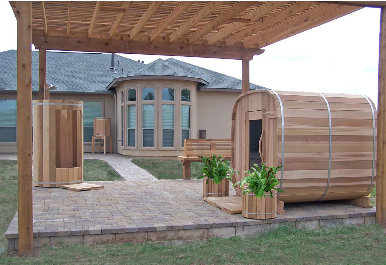 Construction: sauna from the bar with their own hands on the site